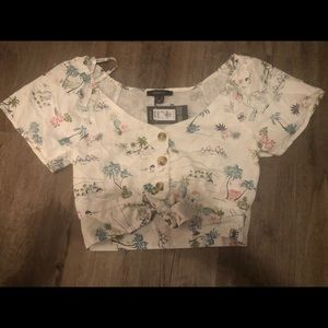 NWT Tropical Cropped Tie top